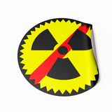 No Nuclear Power sticker Royalty Free Stock Photo