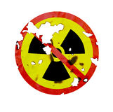 No Nuclear Symbol. And texture Royalty Free Stock Images