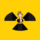 No Nuke. Vector illustration for anti-nuclear campaigns Stock Photos
