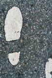 Nożny kroka znak Zdjęcia Royalty Free