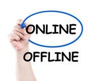 No off-line en línea Imagen de archivo