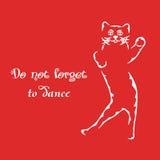 No olvide bailar Fotos de archivo libres de regalías