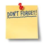 No olvide no hacen los alzheimers del recordatorio Imagen de archivo libre de regalías