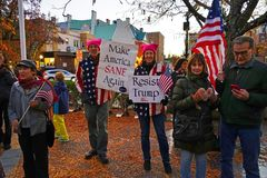No One Is Above the Law rally protest against Donald Trump royalty free stock photo