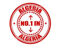 No one in Algeria. Stamp with text no one in Algeria inside,  illustration Royalty Free Stock Image