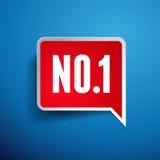 No.One-Aufklebervektor - Nummer Eins Stockfotos