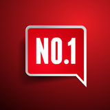 No.One label vector - number one Royalty Free Stock Images
