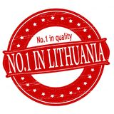 No one in Lithuania. Stamp with text no one in Lithuania inside,  illustration Stock Photos