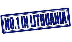 No one in Lithuania. Stamp with text no one in Lithuania inside,  illustration Stock Photo