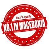 No one in Macedonia. Stamp with text no one in Macedonia inside,  illustration Royalty Free Stock Images