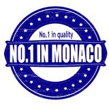 No one in Monaco. Stamp with text no one in Monaco inside,  illustration Royalty Free Stock Images