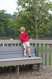 No one to play with. Little boy looking for a playmate Stock Images
