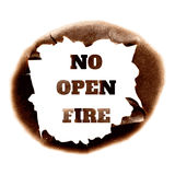 No open fire poster Royalty Free Stock Photography