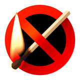 No open fire sign. Vector illustration of  No open fire sign Stock Image