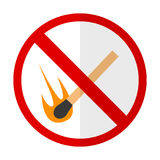 No open flame prohibition sign flat icon Stock Photo