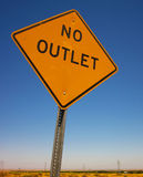 No Outlet Stock Image