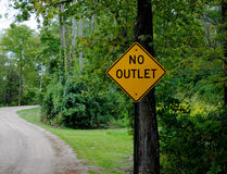 No Outlet Road Sign Royalty Free Stock Images