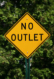 No Outlet Sign Royalty Free Stock Photo