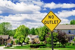 No Outlet Sign Stock Photos