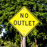 No outlet sign in yellow Royalty Free Stock Image