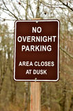 No overnight parking sign Royalty Free Stock Photo