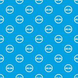 No overtaking road traffic sign pattern seamless blue Stock Photo