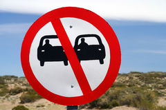 No overtaking sign Royalty Free Stock Photo