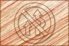 no overtaking sign on wooden board Stock Images