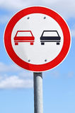 No overtaking traffic sign Royalty Free Stock Photography