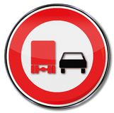 No overtaking for trucks. They are too slow Royalty Free Stock Photo