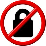 No padlock Royalty Free Stock Photo