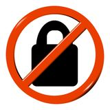 No padlock Royalty Free Stock Images