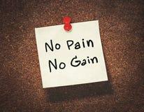Free No Pain No Gain Royalty Free Stock Photography - 73764687