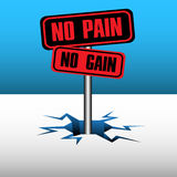 No pain no gain Stock Photos