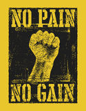 No pain no gain with fist hand. Vector illustration Stock Photo