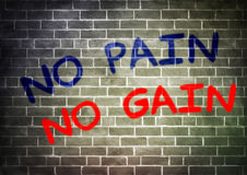 NO PAIN NO GAIN Royalty Free Stock Images