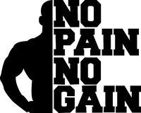 Free No Pain No Gain. Motivational Quotes For Gym Lovers Stock Photo - 192245160