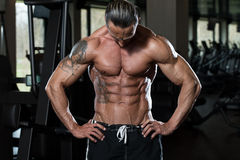 No Pain No Gain. Portrait Of A Physically Fit Man In Modern Fitness Center stock photography