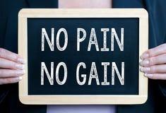 No pain no gain sign Stock Photos