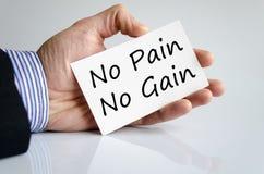 No pain no gain text concept Stock Images