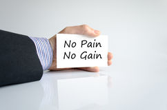 No pain no gain text concept. Isolated over white background Stock Photos