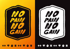No Pain No Gain Royalty Free Stock Photography