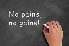 No pains, no gains! Royalty Free Stock Photo