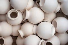 No painted pots Stock Photo