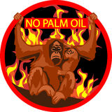 No palm oil label Royalty Free Stock Photos