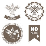 No palm oil labels Royalty Free Stock Photography