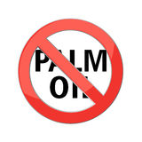 No palm oil sign Royalty Free Stock Images