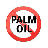 No palm oil sign Stock Photo