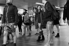 No Pants Day Vienna Subway Ride Royalty Free Stock Photos