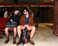 No Pants Subway Ride Bucharest 2015 Royalty Free Stock Image